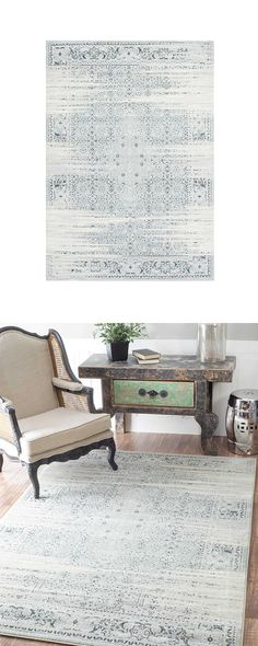 """The """"less is more"""" school of thought works well in interior design. If you already know this, you'll be wowed by the Sabina Rug. With a lovely design offered in subtly washed colors, this beautiful cov...  Find the Sabina Rug, as seen in the The Bohemian Naturalist Collection at http://dotandbo.com/collections/the-bohemian-naturalist?utm_source=pinterest&utm_medium=organic&db_sku=125538"""