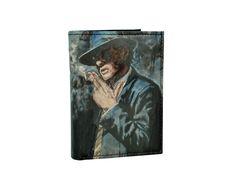 Ručne maľovaná peňaženka 8560 s motívom Muž s cigaretou | Luxusné a módne šperky, doplnky, ozdoby, darčeky Painting, Painting Art, Paintings, Painted Canvas, Drawings