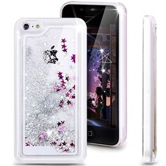 iPhone 5C Case, NSSTAR iPhone 5C [Liquid Case], iPhone 5C Flowing Case, [Crystal Clear] Case with Flowing Liquid Floating Luxury [Bling Glitter] Sparkle Stars Hard Case for Apple iPhone 5C (Silver Glitter & Stars) NSSTAR http://www.amazon.com/dp/B00YHDD81O/ref=cm_sw_r_pi_dp_Ix7Qvb1WCE1ZS