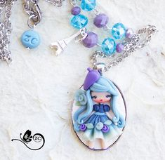polymer clay necklace / parisienne / clay / by ZingaraCreativa
