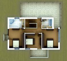 Proiect casa IE286 - Casa Z Floating Shelves, Design, Home Decor, Two Story Houses, Home Plans, Decoration Home, Room Decor, Wall Shelves