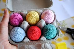 Instead of hiding disposable plastic eggs this Easter, have a hunt for cute, crochet egg rattles! Your little one will want to play with them all year!