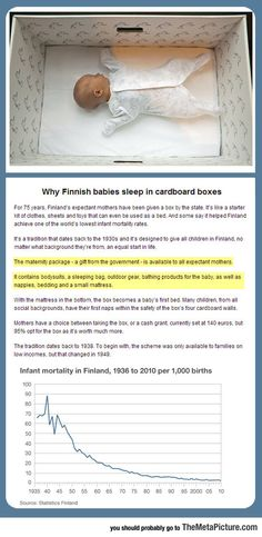 The Reason Finnish Babies Sleep In Cardboard Boxes - The Meta Picture