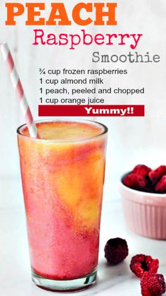 Yummy peach smoothie that will help with that stubborn fat