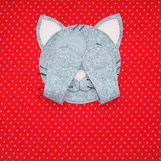 Peek-a-boo cat quiet book cover