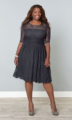 Check out the deal on Luna Lace Dress at Kiyonna Clothing