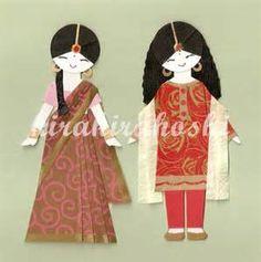 salwaar kameez indian paper dolls