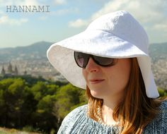 Hattu vanhoista pitsiverhoista. Hat from old lacecurtains. Sewing, recycling, upcycling