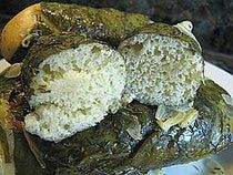 Ukrainian Beet Leaf Rolls with Bread Dough Filling Recipe - Looks like a mistake in the dough recipe. Ingredients call for 4 cups of flour. Step 2 in prep should probably read 3/4 C flour instead of 4C. because in Step 3 the remaining 3 1/4 C of flour are added. ( i.e. 3/4 + 3 1/4= 4 )