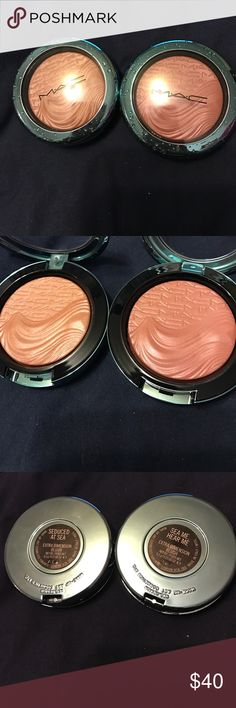 MAC seduced at sea and sea me hear me blush duo From alluring aquatic collection.swatched once. They are being sold together MAC Cosmetics Makeup Blush