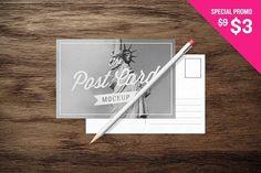 Postcards - MockUp by blackpattern on @creativemarket
