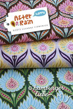 Hamburger Liebe: Hurraaa, Happy ist daaa! Love the colour combo of the fabric at the bottom