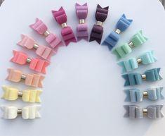 Image of Wool Felt Double Loop Bow Diy Hair Bows, Diy Bow, Baby Bows, Baby Headbands, Homemade Bows, Glitter Spray Paint, Felt Bows, Glitter Girl, Boutique Bows