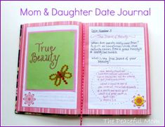 Mom and Daughter Date Journal - I LOVE THIS!  I have a journal that we already write in every week but this one would be just for our mommy & me time!