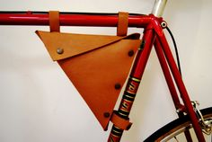 Bicycle leather bag/ Leather Bike Bag/ Triangle Bag/ by byNizzo, €45.00 FABULOUS!!!!!!!!!!!!!!Love this bag.