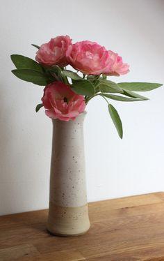 Landhausvase+klein+konisch+von+Keramik++vom+Rhinkanal+auf+DaWanda.com