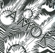 Amok / Atoms For Peace, cover by Stanley Donwood