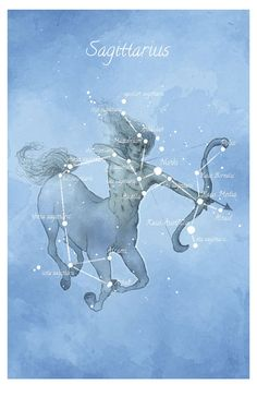 Astronomy art Sagittarius constellation by LaPetiteMascarade
