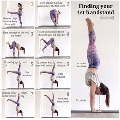 There are a lot of yoga poses and you might wonder if some are still exercised and applied. Yoga poses function and perform differently. Each pose is designed to develop one's flexibility and strength. Fitness Workouts, Yoga Fitness, Fitness Motivation, Easy Fitness, Health Fitness, Yoga Positionen, Yoga Handstand, Handstand Progression, Handstands