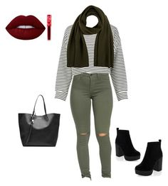 """""""Autumn time"""" by xnellyx on Polyvore featuring Mode, Boohoo, New Look, Alexander McQueen, Barneys New York und Lime Crime"""