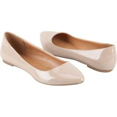 Nude Pointed Toe Flats - $19