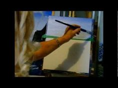 Acrylic painting lesson How to Blend a beautiful sky see Lesson 1 to add Clouds - YouTube