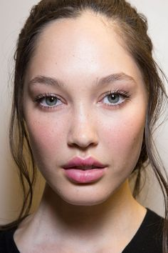 Olympia Le Tan at Paris Spring 2015 (Backstage). http://votetrends.com/polls/369/share #makeup #beauty #runway #backstage