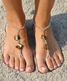 Gold Shell Barefoot Sandal
