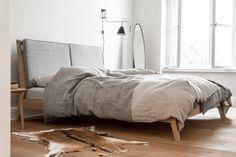 Komplet: łóżko i stoliki nocne - Projekty Mebli - Loft Szczecin
