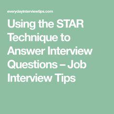 interview techniques star
