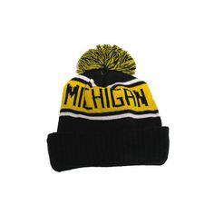 fdfb717473f LogoFit University of Michigan Highlands Pom Pom Cuffed Knit Hat ( 23) ❤  liked on