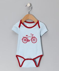 Cute baby boy gift $10.99 reg. 22... Bicycle Organic Bodysuit by Sweet Peanut on #zulily