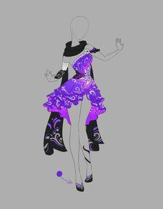 Purple with black cape