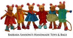 Barefoot Toys by Barbara Sansoni Handmade Toys, Barefoot, Gifts For Kids, Mice, Romantic, Children, Crafts, Artist, Room