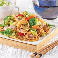 Spaghettis chinois au canard - Soupers de semaine - Recettes 5-15 - Recettes express 5/15 - Pratico Pratiques