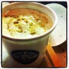 Take away honey porridge for the ferrymen!! #breakfast #alfs #porridge #takeaway #breakfastwatch