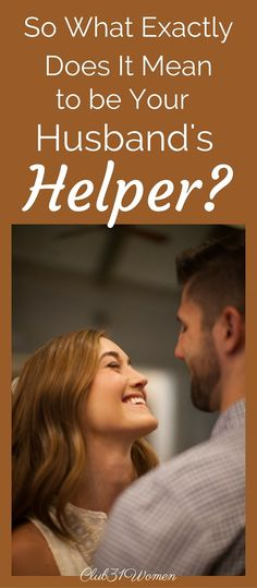"""What's the biblical concept behind Eve being created as her husband's """"helper""""? And does this still apply today?   You might find the answer both surprising and very encouraging.... .~ Club31Women"""