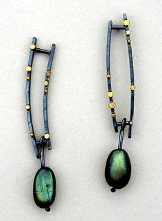 Parallel Bar Earrings: Sydney Lynch: Gold, Silver, & Stone Earrings - Artful Home