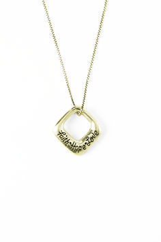 14Kt Gold Necklace - Faith-Hope-Love on SonGear.com - Christian Shirts, Jewelry