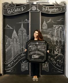 Chalk Art by Carolina Ro for Kate's Paperie