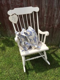 ivory cream rocking chair painted vintage wooden rocking chair nursery rocking chair new