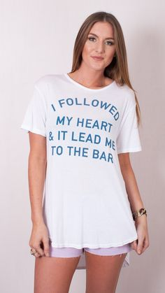 """Followed My Heart"" Tee by Jac Vanek"