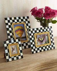 Courtly Check Photo Frames by MacKenzie-Childs at Horchow.