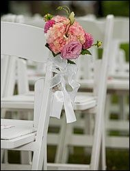 Wedding Photography flowers chairs isle  Aschendorf