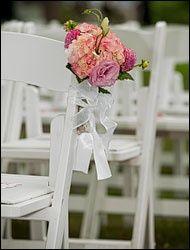 Wedding Photography flowers chairs isle  Aschendorf