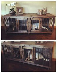 Dog kennel entry way table More