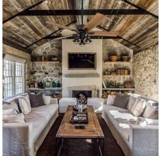 Prominence Home Aged Bronze Sivan 5 Blade Indoor Ceiling Fan with Light Kit Included – Family Room İdeas 2020 House Design, Home Living Room, Farm House Living Room, House, Home, Tiny House Living, House Plans, House Interior, Rustic House