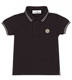 Stone Island Navy Pique Cotton Polo Shirt from www.profilefashion.com