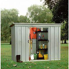 yardmaster pz pent metal 8x4 garden shed - Garden Sheds 8 X 4