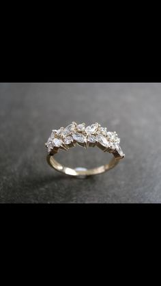 Gorgeous ring leaves of diamonds